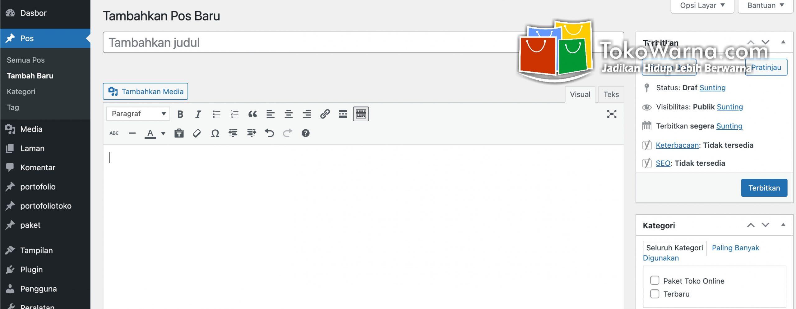 Cara membuat artikel atau postingan pada website WordPress